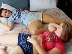 Chatty girls rub together
